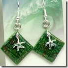 Crackle Earring with Starfish