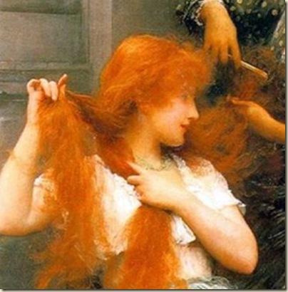 Waterhouse, Jeune femme rousse