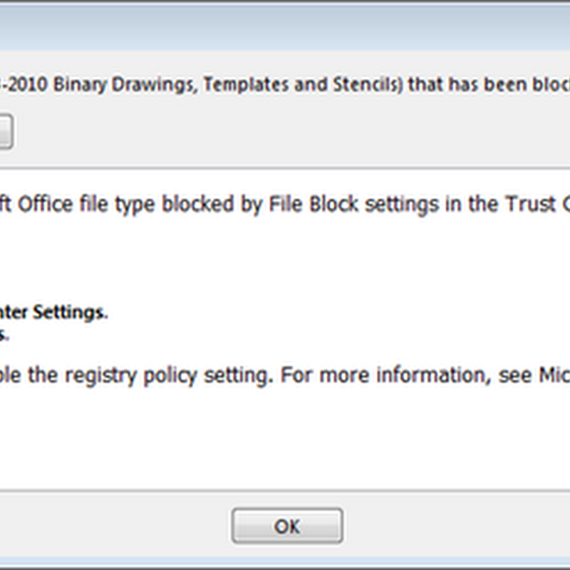 Visio 2013 File Blocking