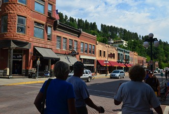 great buildings on the streets of Deadwood