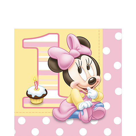 servilletas minnie bebe jpg servilletas motivo minnie mouse bebe