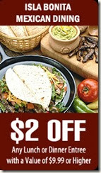 Isla Bonita $2 off coupon