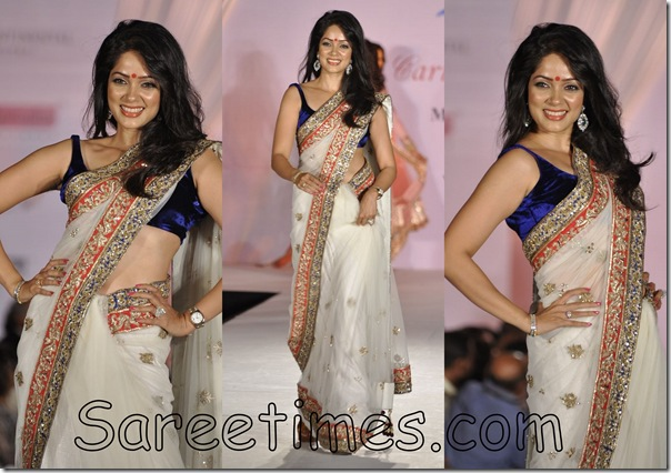 Vidya_Malwade_White_Designer_Saree