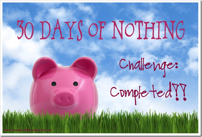 30-Days of Nothing Challenge - COMPLETED