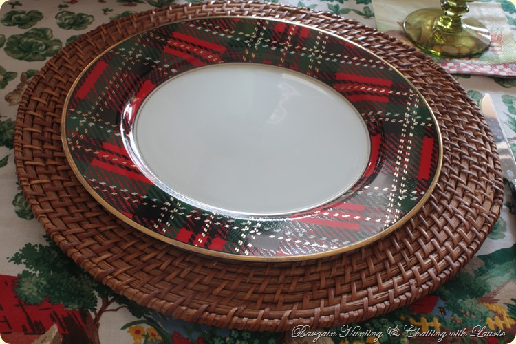 plaid plate