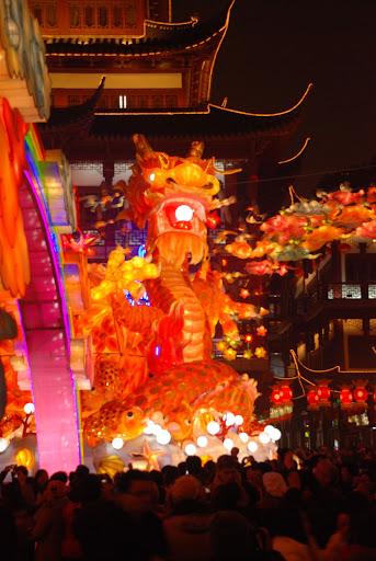 Shanghai Fête des Lanternes 2012 - Dragon multicolore
