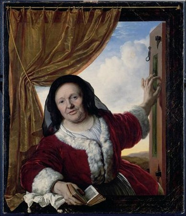 Bartolomeus der Helst, vieille femme à la fenêtre