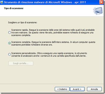 Strumento di rimozione malware per Microsoft Windows