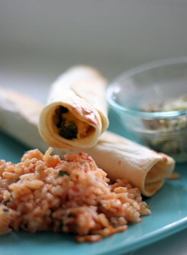 chicken and spinach flautas 1
