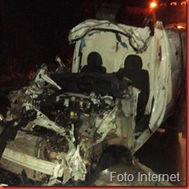 Acidente com ambulância de Jacaraú deixa pelo menos uma vítima fatal na madrugada desta 2ª