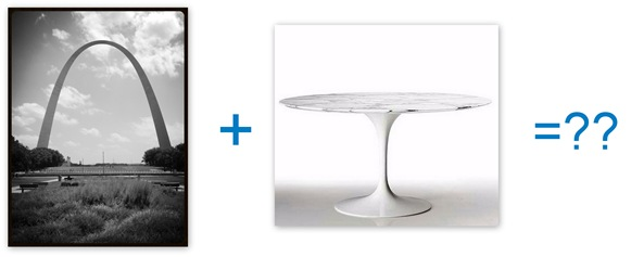 Saarinen arch and table
