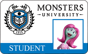 Britney Davis Monsters University Student Identification Card