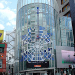 promo of Spiderman 3 movie on the KDDI building in Harajuku in Harajuku, Tokyo, Japan