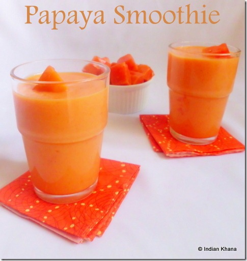 Easy papaya smoothie recipe