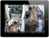 Four camera remote iPad app view of the Viewtron VT-HD-404 HD-SDI CCTV hybrid DVR