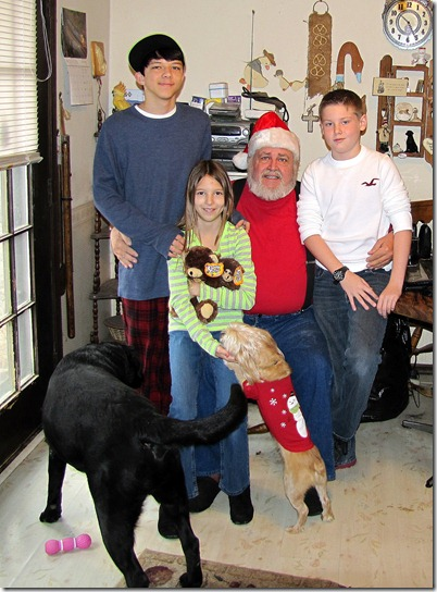Rigg's Chris,Nicky,ADam,&Grandpa12-25-12b