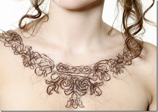 For Web Kerry Howley BA Jewellery Middlesex Uni 'Aversion-Attraction' Hair Necklace 2 Low Res