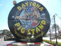 Florida 3.2013 Daytona back end of huge pig roast rig