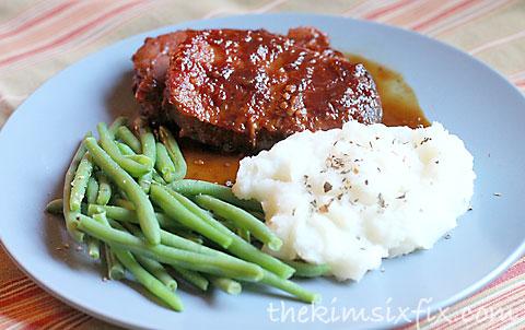 Ginger glazed porkchop