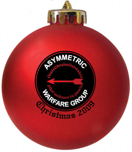 Asymmetric Warfare Group Logo Christmas Ornament designed for a customer at www.fundraisingornaments.com