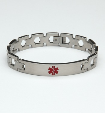 A194 Undercover Stainless Steel Medical ID Bracelet