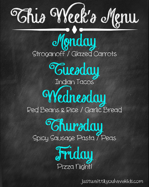 January Week 3 Meal Plan