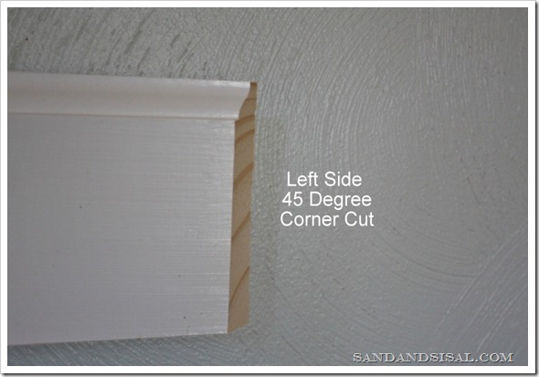 Left side  45 degree corner cut