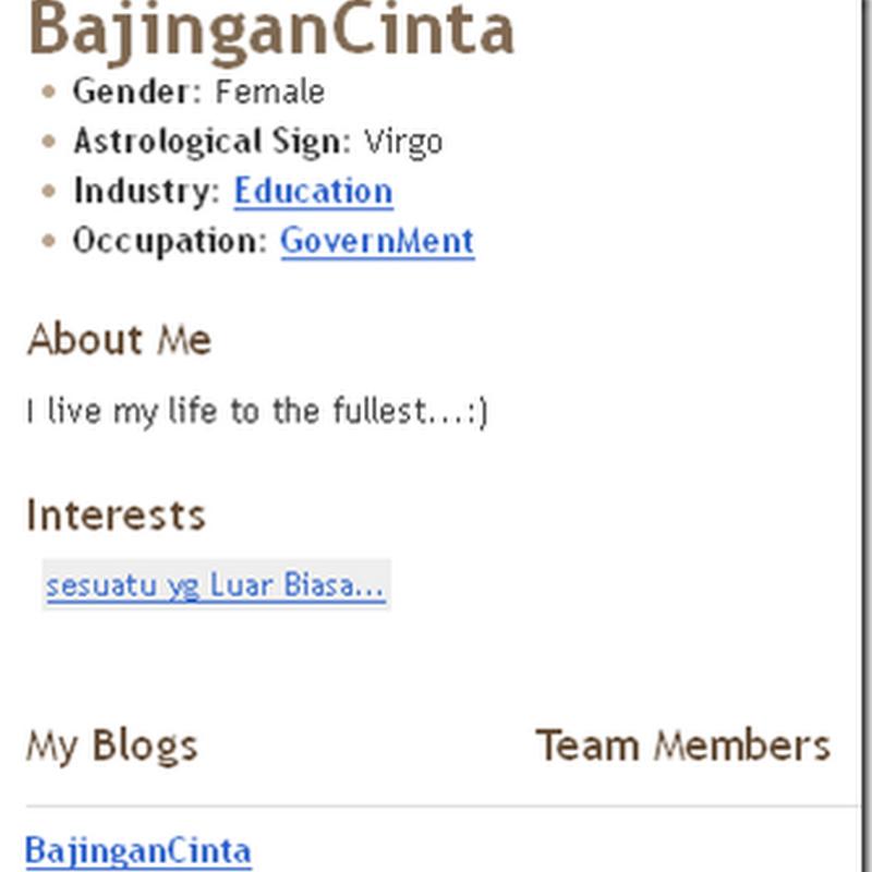 Blogger Pilihan BEN ASHAARI ..