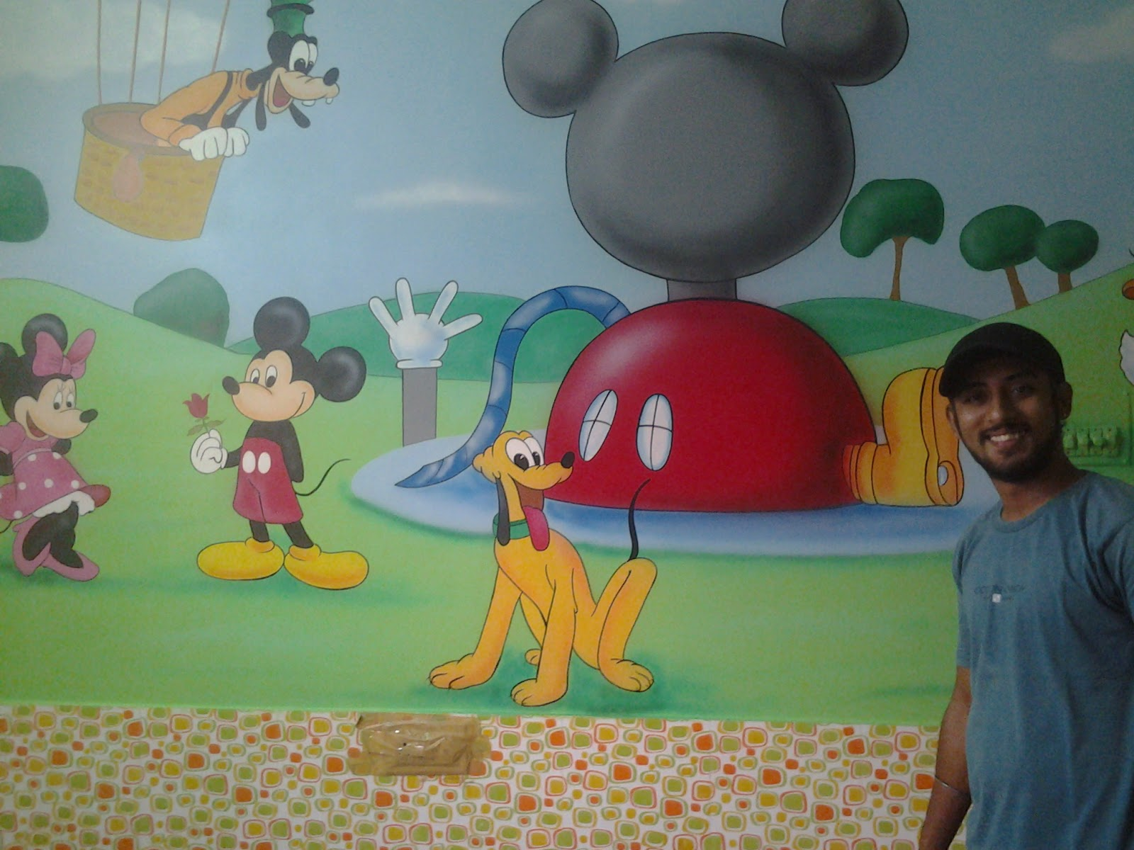 Handmade Wall Murals Made By : Www.wallpaintingmumbai.in. Please Contact :  G.S Arora +91 9221686556