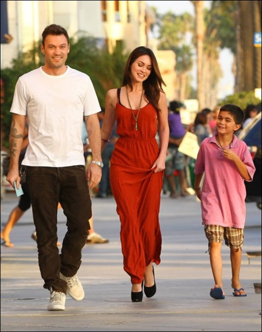 Brian Austin with Megan Fox and His Baby