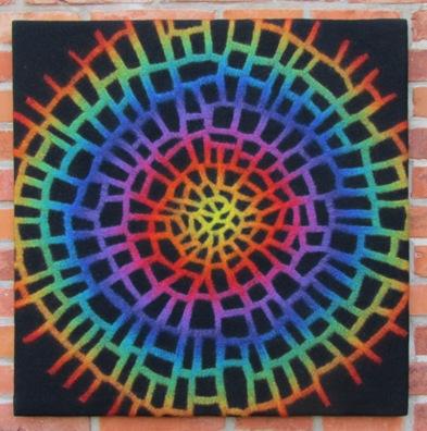 Regenbogennetz 80x80 cm