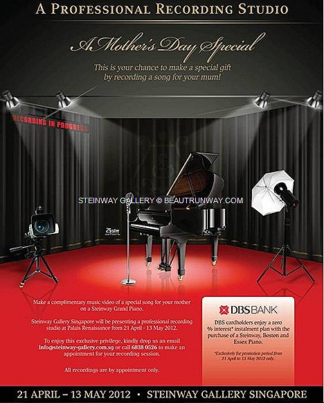 STEINWAY GALLERY GRAND PIANO Palais Renaissance ORCHARD ROAD PROFESSIONAL RECORDING STUDIO SINGAPORE SONG DEDICATION CD GIFT