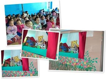 Exibir teatro de fantoche Boi Bumbá