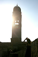 Shelley taking a photo of the bell tower