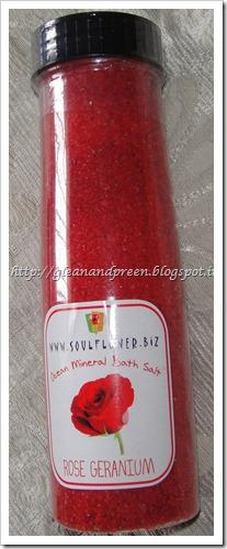 Soulflower Rose Gernaium Bath Salt