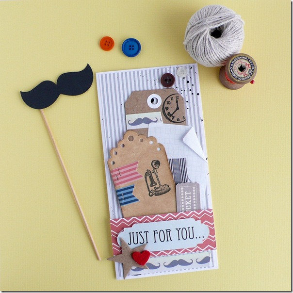 cafe creativo - AnnaDrai - Sizzix - Masculine card - Father's Day - mustache (2)