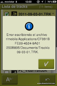 Error Twonav Iphone