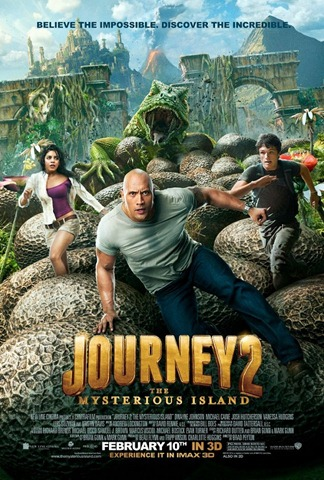 Journey 2 Mysterious Island movie poster 2012