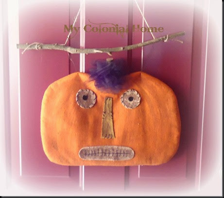 Pumpkin on door