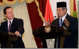 Yudhoyono and Cameron