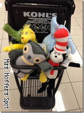 Kohl's Cares stuffed animals. $5 for a Dr. Suess