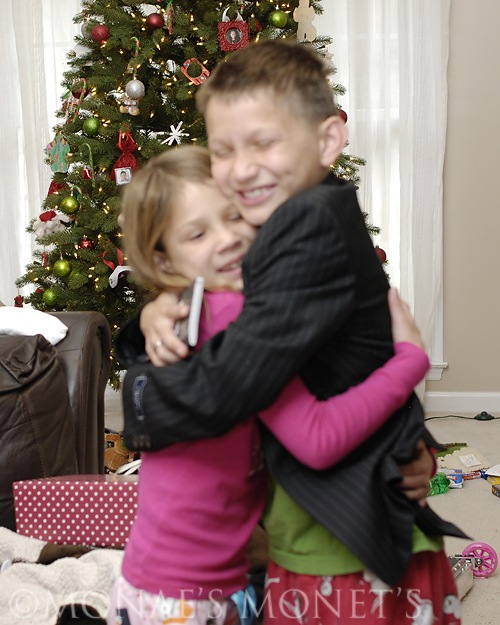 Austin and Brooke hugging blog