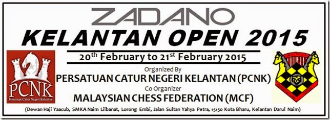 Zadano Kelantan Chess Open 2015