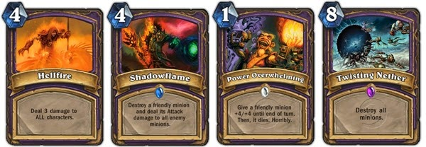 Hearthstone - Warlock AoE cards