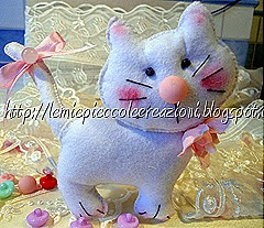bomboniera gatto feltro
