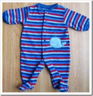 Carter's terry-cloth footed sleeper