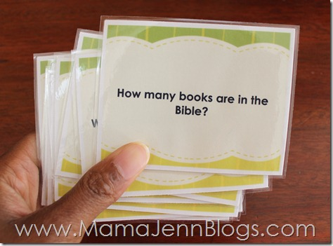 What's in the Bible? Flash Cards