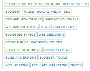 customize Label links in blogger