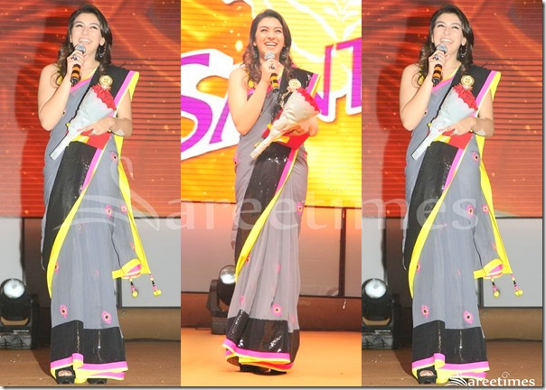 Hansika_Grey_Saree
