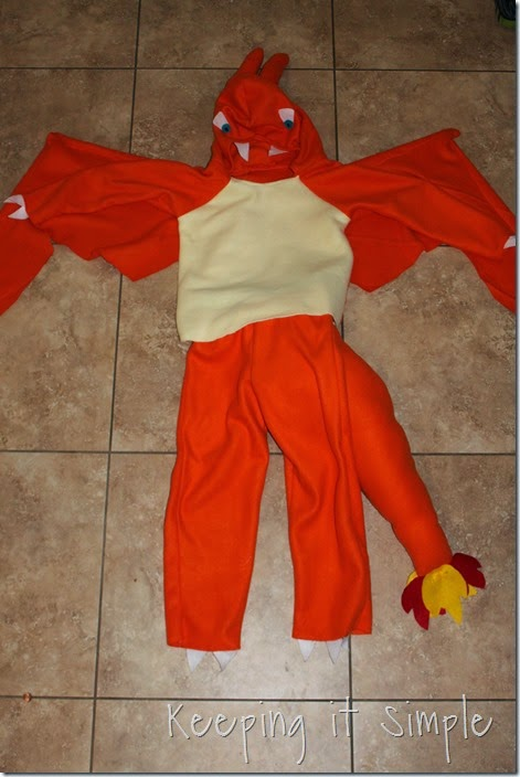 DIY Pokemon Charizard Costume (10)